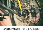 close view of brake disk in... | Shutterstock . vector #1131771830