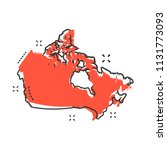 cartoon canada map icon in... | Shutterstock .eps vector #1131773093