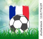 football ball icon on french... | Shutterstock .eps vector #1131776129
