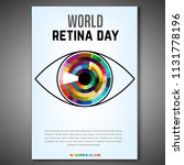 september 28   world retina day.... | Shutterstock .eps vector #1131778196
