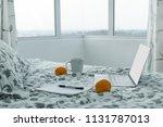 morning in modern apartment  ... | Shutterstock . vector #1131787013