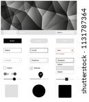 dark gray vector web ui kit in...