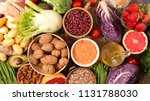 assorted fruit and vegetable | Shutterstock . vector #1131788030
