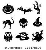 halloween set | Shutterstock .eps vector #113178808
