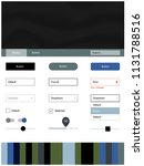 dark blue  green vector web ui...