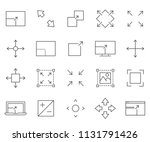 simple set of expand related... | Shutterstock .eps vector #1131791426