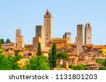 san gimignano   medieval town... | Shutterstock . vector #1131801203