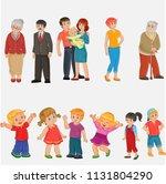 family members spending time... | Shutterstock .eps vector #1131804290