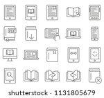 set of ebook related vector... | Shutterstock .eps vector #1131805679