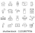 set of internet of things... | Shutterstock .eps vector #1131807956