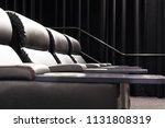 empty modern cinema with... | Shutterstock . vector #1131808319