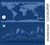 global exchange market. graphic ... | Shutterstock .eps vector #1131813959
