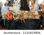 healthy different seafood... | Shutterstock . vector #1131819806