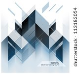 abstract modern background with ... | Shutterstock .eps vector #113182054