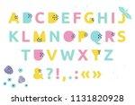 fresh trendy alphabet....   Shutterstock . vector #1131820928