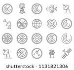 set of radar related vector... | Shutterstock .eps vector #1131821306