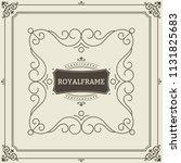 vintage ornament greeting card... | Shutterstock .eps vector #1131825683