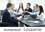 successful businesswomen are... | Shutterstock . vector #1131829730