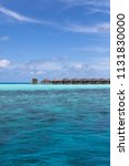 overwater bungalows in maldives   Shutterstock . vector #1131830000