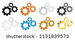 cogwheel gear mechanism metal... | Shutterstock .eps vector #1131839573