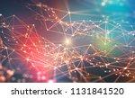 global network. blockchain 3d... | Shutterstock . vector #1131841520