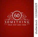 vintage 60th anniversary emblem.... | Shutterstock .eps vector #1131843329