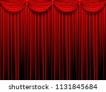 red stage curtain realistic... | Shutterstock .eps vector #1131845684