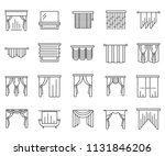 set of curtains related vector... | Shutterstock .eps vector #1131846206