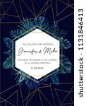 save the date invitation on... | Shutterstock .eps vector #1131846413