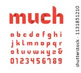 ribbon font. vector alphabet... | Shutterstock .eps vector #1131851210
