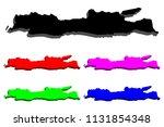 3d map of java   black  red ...   Shutterstock .eps vector #1131854348