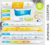 vector web elements  buttons... | Shutterstock .eps vector #113185936