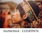 child with typical dress in the ... | Shutterstock . vector #1131859676