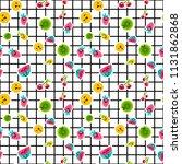 vector summer fruits patterns... | Shutterstock .eps vector #1131862868