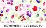 wide seamless floral background ... | Shutterstock .eps vector #1131863750