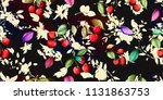 wide seamless floral background ... | Shutterstock .eps vector #1131863753
