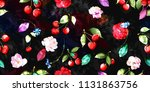 wide seamless floral background ... | Shutterstock .eps vector #1131863756