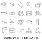 set of rating related vector... | Shutterstock .eps vector #1131865346
