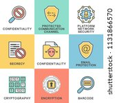 icons of information protection.... | Shutterstock .eps vector #1131866570