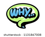 bright vector why speech bubble....   Shutterstock .eps vector #1131867008