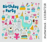 big set of birthday party... | Shutterstock .eps vector #1131867218