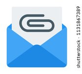 mail file attachment | Shutterstock .eps vector #1131867389