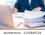 document report and business...   Shutterstock . vector #1131869126