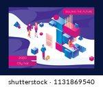 horizontal booklet or flyer... | Shutterstock .eps vector #1131869540