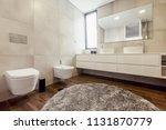luxury bathroom interior with... | Shutterstock . vector #1131870779