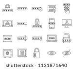 set of password related vector... | Shutterstock .eps vector #1131871640