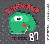 cute cartoon t rex dinosaur... | Shutterstock .eps vector #1131872186