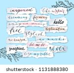 torn off paper edges collage... | Shutterstock .eps vector #1131888380