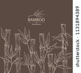 background with bamboo  bamboo... | Shutterstock .eps vector #1131894389