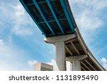 skyward view of interstate 95... | Shutterstock . vector #1131895490